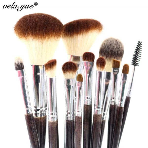 professional makeup brush set 12pcs high quality makeup tools kit